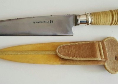 SOLD Fancy Gaucho Knife by Maximo Prado