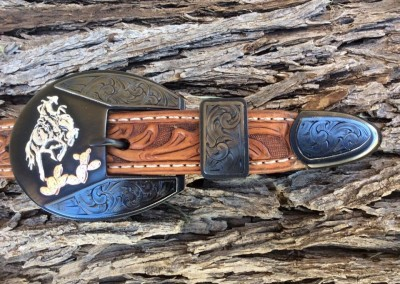 Three Piece Buckle Set by Mike Pardue