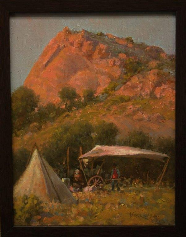 Camp at Point of Rocks by Wayne Baize