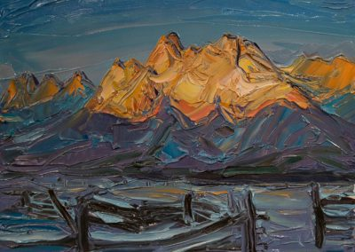Sawtooth, Winter Sunrise by Louisa McElwain