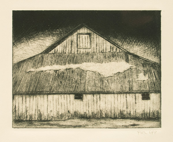 Barn in Winter by Phil Epp