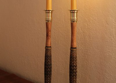 Rawhide Candlesticks by Whit Olson