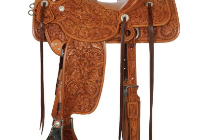 Full Flower Carved Saddle by Marc Brogger