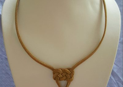 Rawhide Braided Necklace by Pablo Lozano – SOLD