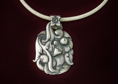 Sterling Silver Pendant by Javier Ribeyrol – SOLD