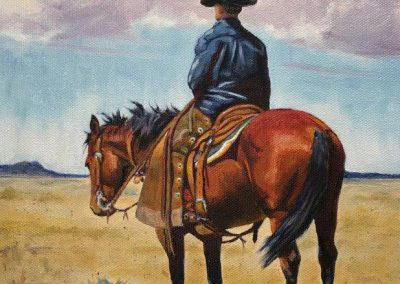 Where the Wind Blows & Sagebrush Grows by Valerie Coe – SOLD