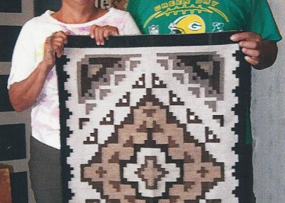Toadlena/Two Grey Hills-Style Rug byDavid and Chris Foghorn – SOLD