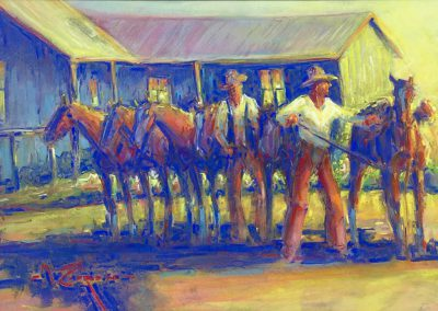Fowlkes Brothers – La Sauceda 1950 by Mike Capron – SOLD