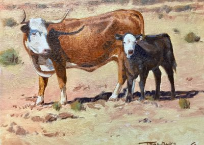 Cow and Calf by Teal Blake