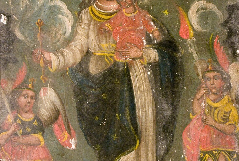 The Virgin, Christ Child and Archangels