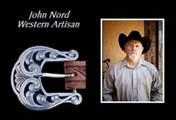 Photo of John Nord, photo of a belt buckle