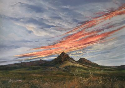 Fall Colors Mitre Peak at Dawn by Lindy Cook Severns – SOLD