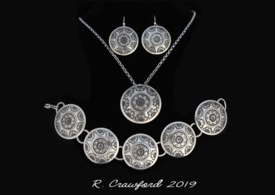 Handcrafted Cherry Blossom Wreath Necklace by Rex Crawford – SOLD