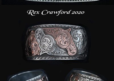 Double Horsehead Cuff Bracelet by Rex Crawford