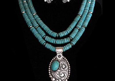 Three-piece Turquoise Set by Rex Crawford