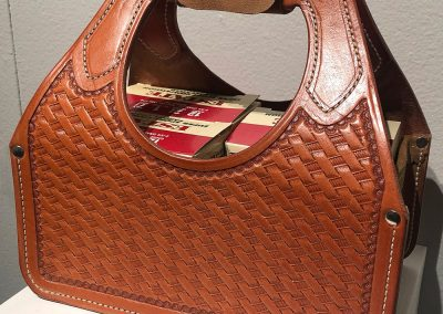 Basket-stamped Four-box Shotshell Tote by JT Hudson