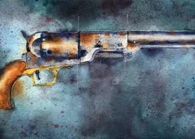 ART 56. Ole Sam Colt's Walker by Tim Oliver – SOLD