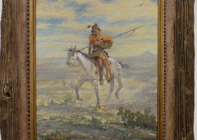 ART 77. Powder Face-Comanche Scout by Mike Capron – SOLD