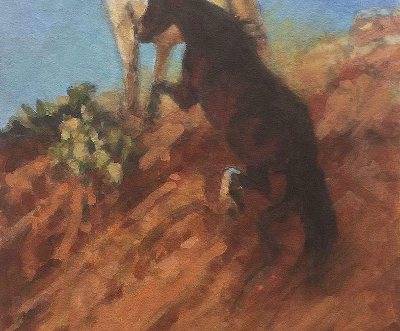 ART 81. Cresting the Mesa by Buckeye Blake