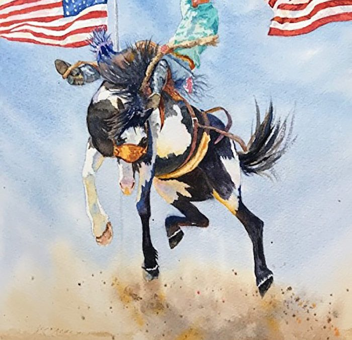 ART 85. True Grit and Old Glory by Valerie Coe